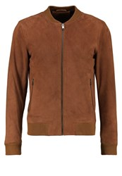 Selected Homme Shnmark Bomber Jacket Camel Brown