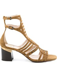 Lanvin Strappy Sandals Brown