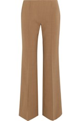 Agnona Stretch Wool Flared Pants Sand