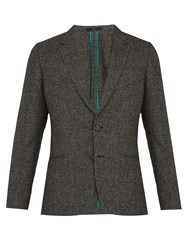 Paul Smith Notch Lapel Wool Blend Blazer Grey