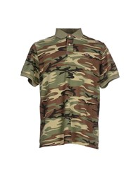 Denim And Supply Ralph Lauren Topwear Polo Shirts Men Military Green