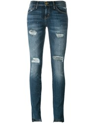 Current Elliott Unevan Cut Skinny Jeans Blue