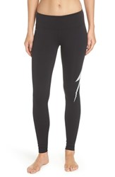 Aviator Nation Bolt Leggings Black White