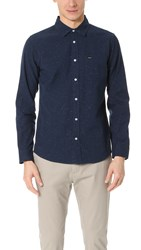 Rvca Casey Shirt Federal Blue