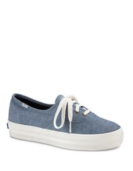 Keds Low Top Canvas Sneakers Dark Blue
