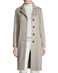Cinzia Rocca Four Button Chesterfield Coat Oatmeal