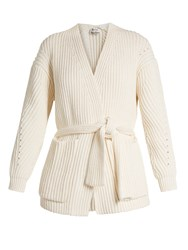 Acne Studios Beate Chunky Cotton Blend Cardigan Ivory