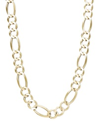 Macy's 22' Men's Figaro Chain Necklace 7 1 5Mm In 14K Gold