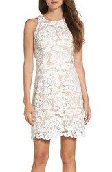 Eliza J Women's Lace Sheath Dress Ivory