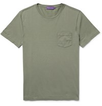 Ralph Lauren Purple Label Slim Fit Cotton Jersey T Shirt Sage Green