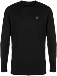Philipp Plein Logo Long Sleeve Sweater Black