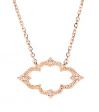 Stone Moon River 18Kt Rose Gold Necklace With Diamonds
