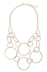 Topshop Women's Circle Link Statement Necklace Gold