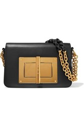 Tom Ford Natalia Large Leather Shoulder Bag Black