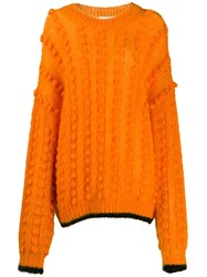 Marco De Vincenzo Bubble Knit Jumper Orange