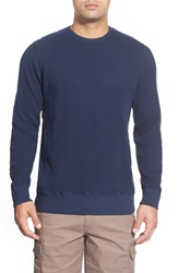 Cova Waffle Knit Thermal Pullover Navy