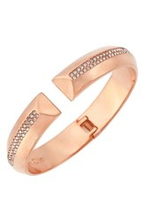 Women's Louise Et Cie Pave Hinge Bangle Rose Gold