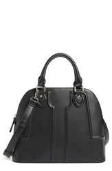 Sole Society 'Marlow' Structured Dome Satchel Black Jet Black