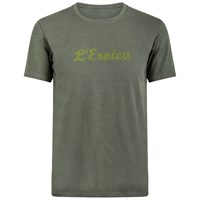 Santini L'eroica Stretch Cotton T Shirt Olive Green