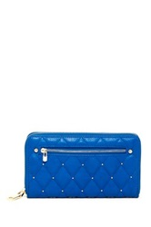 Urban Expressions Parket Stud Quilted Wallet Blue