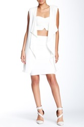 Romeo And Juliet Couture Bandage Pencil Skirt White