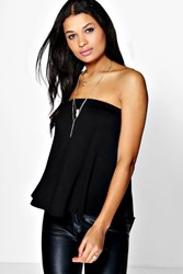 Boohoo Swing Tube Top Black