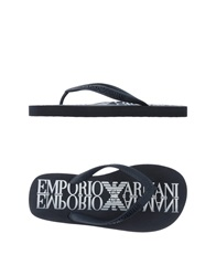 Emporio Armani Swimwear Thong Sandals Dark Blue