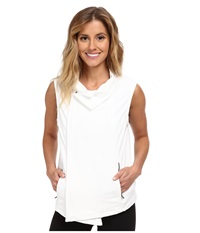 Zobha Kate Full Zip Vest White Women's Workout