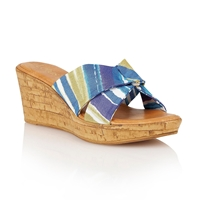 Lotus Luisa Wedge Sandals Blue