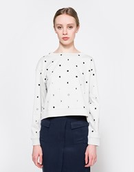 Cheap Monday Expand Sweat In Moon Dot Dirty White