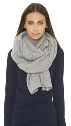 White Warren Cashmere Travel Wrap Scarf Grey Heather