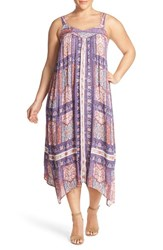 Plus Size Women's Lucky Brand Tapestry Print Handkerchief Hem Sundress
