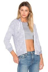 Stateside Boucle Zip Up Hoodie Gray