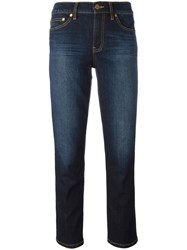 Tory Burch Cropped Skinny Jeans Blue