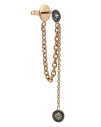 Kismet By Milka Colors 14K Rose Gold Chain Earring With Champagne Diamonds Each