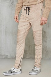Forever 21 Faux Suede Zippered Moto Pants