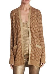 Ralph Lauren Long Sleeve Boyfriend Cardigan Light Tobacco