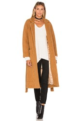 Ganni Fenn Wrap Coat Tan