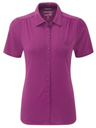 Craghoppers Kaile Short Sleeved Shirt Pink