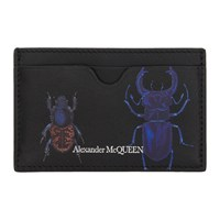 Alexander Mcqueen Black Bug Card Holder