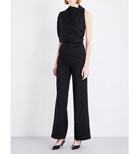 Osman Lorelei Cowl Neck Woven Jumpsuit Black