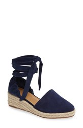 Marc Fisher Women's Ltd Baylee Wraparound Wedge Navy Suede