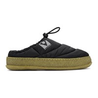 Maison Martin Margiela Black Quilted Slip On Loafers