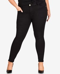 City Chic Trendy Plus Size Skinny Ankle Jeans Black