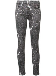 7 For All Mankind Abstract Print Skinny Jeans