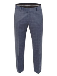 Alexandre Savile Row Subtle Check Tailored Fit Trouser Blue