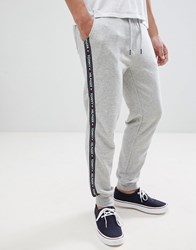 Tommy Hilfiger Authentic Cuffed Joggers Side Logo Taping In Grey Marl Grey Heather