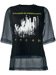 Mcq By Alexander Mcqueen Sheer Layer T Shirt Black
