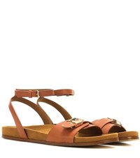 Stella Mccartney Faux Leather Sandals Brown