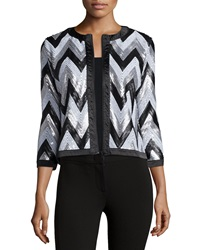 Michael Simon Zigzag Sequined Jacket Petite